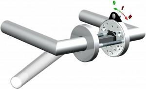 schaltbare Türgriffe 1 Basis Garnitur_2_Zustände + Schaltanzeige
